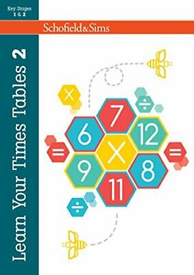 Learn Your Times Tables 2: KS2 Maths, Ages 7-11 by Hilary Koll Paperback Book