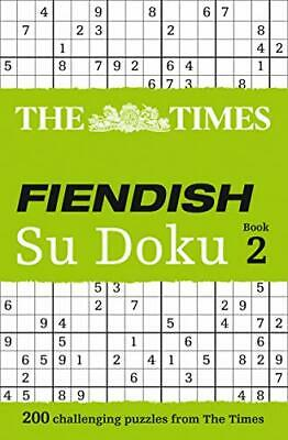 The Times Fiendish Su Doku Book 2: 200 chal... by The Times Mind Games Paperback