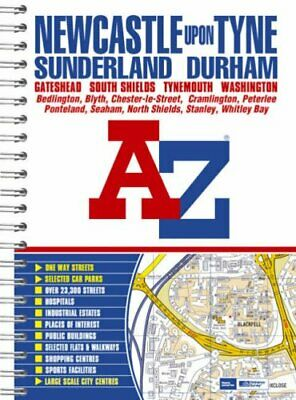 Newcastle upon Tyne Street Atlas (spiral) by Geographers A-Z Map Co Spiral bound