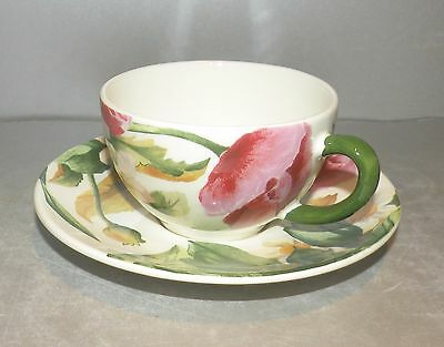 NEW tea Cup & Saucer  Volupte Pattern From GIEN