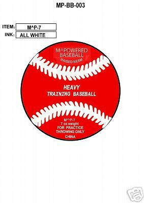 MPOWERED BASEBALL 7 ounce WEIGHTED TRAINING BASEBALL
