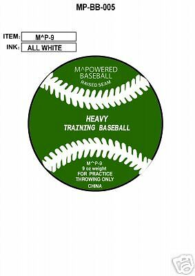 MPOWERED BASEBALL 9 ounce WEIGHTED TRAINING BASEBALL