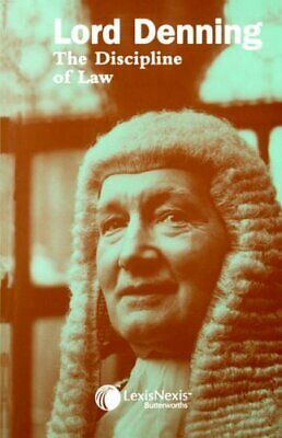 Lord Denning : The Discipline of Law by Lord Alfred Denning Paperback Book The