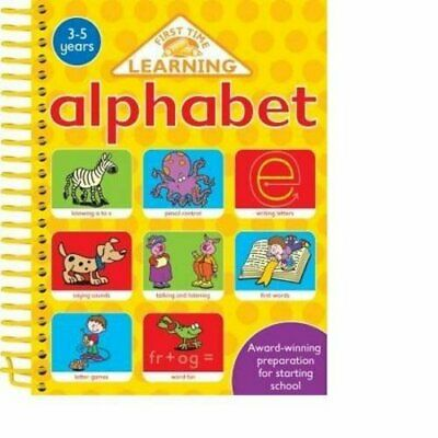 4 IN 1 SPIRALS: ALPHABET (First Time Learning) by Nina Filipek Paperback Book