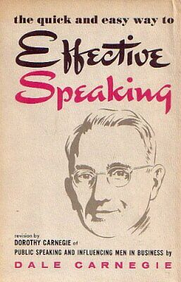 The Quick and Easy Way to Effective Speaking by Carnegie, Dale Hardback Book The