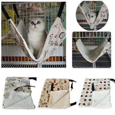 Pet Cat Rat Rabbit Hammock Bed Animal Hanging Dog Cage Nest Comforter Ferret New