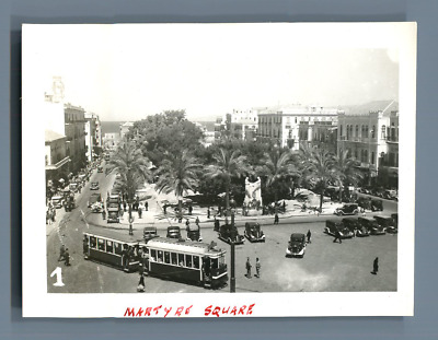 Syrie, Martyre Square  Vintage print.  Tirage argentique  5x8  Circa 1900