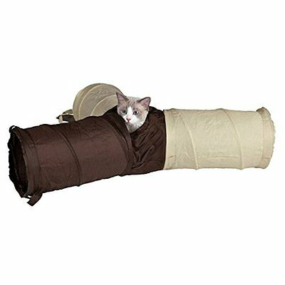 Trixie 3 Way 3 Pipe Cat Play Tunnel Cat Kitten Toys With Free Catnip Sachet • EUR 17,17