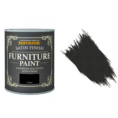 Rust-Oleum Carbon Satin Chalky Chalk Furniture Paint Vintage Shabby Chic 125ml