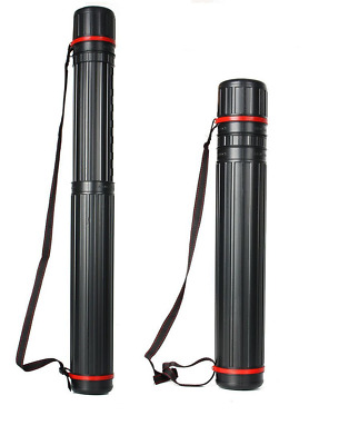 DRAWING TUBE COMPACT TELESCOPIC EXTENDABLE ARTWORK STORAGE CARRY STRAP 8cm 110cm