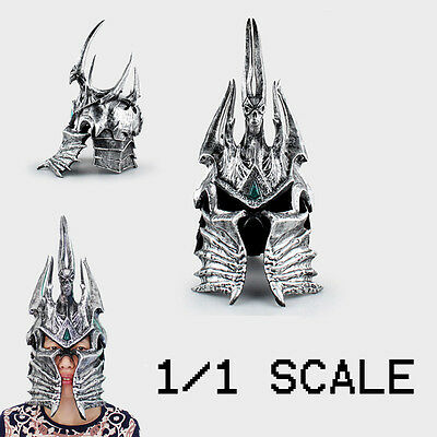 1/1 World of Warcraft Wow Mask The Lich King Helmet Stage Show Cosplay Props