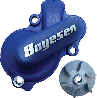 Boyesen Waterpump Cover & Impeller Kit Blue For Kawaki KX450F 06-15 KLX450 08-09