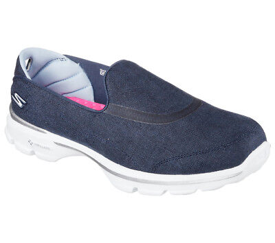 NEU SKECHERS Damen Fitness Sneakers Loafer Memory Foam GO WALK 3 - RIVIERA Blau
