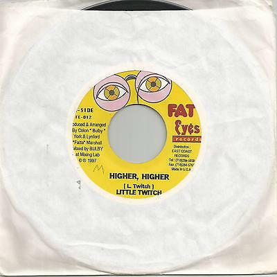 "Little Twitch - Higher, Higher (Fat Eyes Records) Reggae 7"" Vg+"