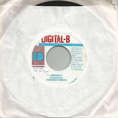 "Prezident Brown - Parable (Digital B) Reggae 7"" Vg+"