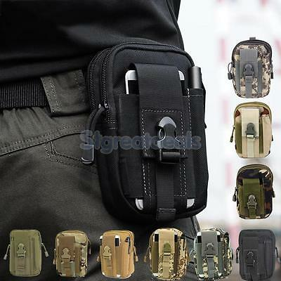 Outdoor Tactical Zippers Waist Fanny Pack Bag Sports Camping Hiking Travel Pouch