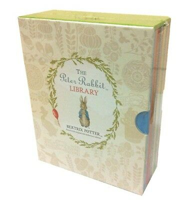 Beatrix Potter Peter Rabbit Library Coloured Jackets 10 Books Collection Box New