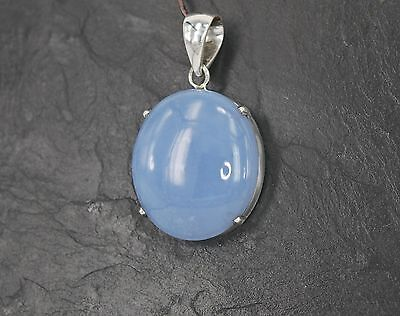 Chalcedon Anhänger in massiver 925 Silber Fassung S-CHA-5