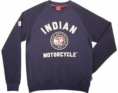 Indian Motorcycle Mens X-Large Navy Imc Raglan Sweatshirt