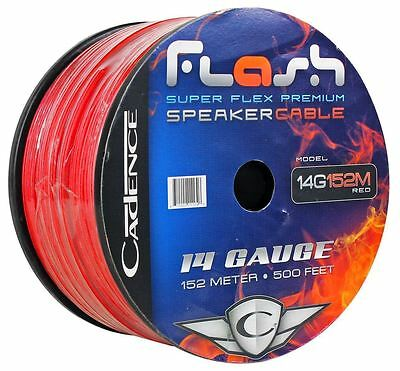 Cadence 14G152M-Red 14 AWG Gauge 250' Ft. Red Car Audio Speaker Wire