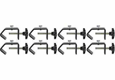 """(8) American DJ C-Clamp Heavy Duty C-Clamps For Hanging Lights Up to 2"""" Truss"""