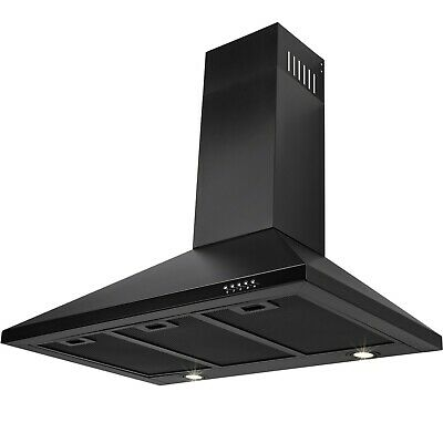 "36"" Stainless Steel Wall Mount Range Hood Push Button Touch Kitchen Vent"