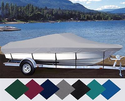 Custom Fit Boat Cover Lund 16 Deluxe Tiller O/b 2009-2010