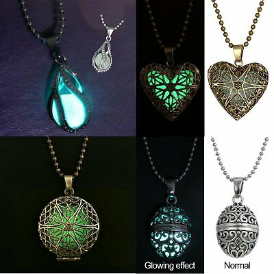 Luminous Hollow Magic Steampunk Fairy Locket Glow In The Dark Necklace Pendant