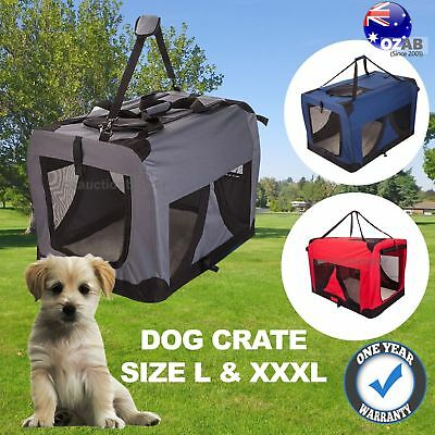 Portable Foldable Pet Soft Dog Carrier Crate Car Travel Camping Cage Kennel AU