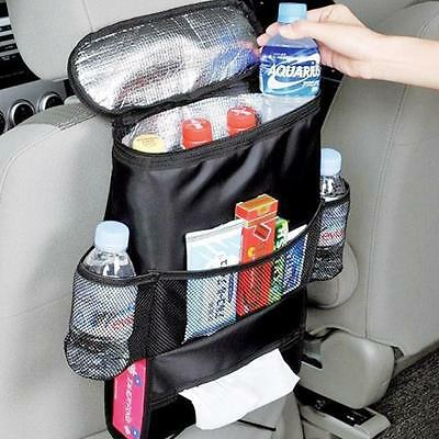 Picnic Backpack Car Seat Organizer Insulated Drinks Cooler Travel Storage Bag