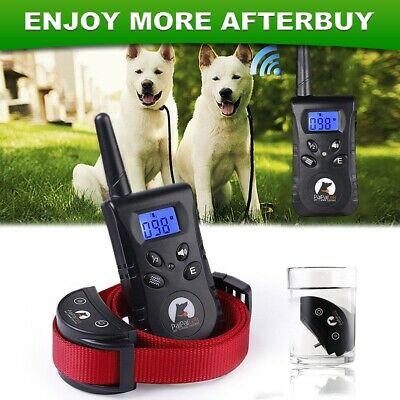 Training Collar Waterproof Rechargeable 500Yard Remote Vibration Pet Dog