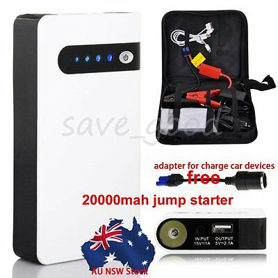 AU Portable 20000mAh Car Jump Starter Booster Phone Power Bank Battery Charger