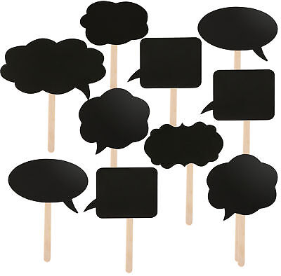 10 Assorted DIY Card Speech Bubble Blackboards - By TRIXES