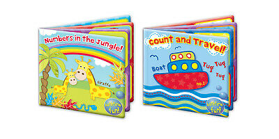 "Bath Book Baby Waterproof Floating Educational Bath Toy ""First Steps"" Pack of 2"