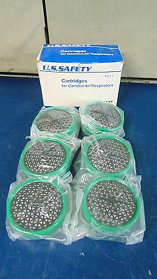Box Of 6 U.S. Safety Cartridges For Comfort-Air Respirators 158T22~NEW~S2341