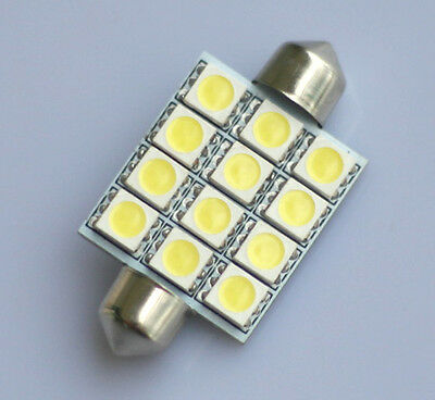 2x Auto LED Soffitte Lampe C10W Canbus 42mm 12 5050 SMD 12V Innen Beleuchtung