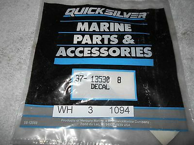 New  37-13530 8  Decal  Mercury  Mercruiser Quicksilver