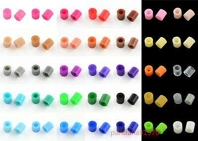 1000pcs Fun Fusion PE DIY Melty Fuse Beads Refills Kid Craft Solid Color 3x2.5mm