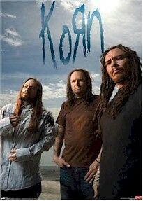 KORN ~ TRIO POSTER 22x34 Music Rock Metal Shaffer Jonathan Davis NEW/ROLLED!