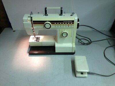 Vintage New Home 656a Sewing Machine w/ Foot Switch