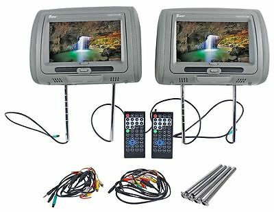 "Tview T99DVTS-GR 9"" Gray Touch Screen Dual DVD Car Headrest Monitors"