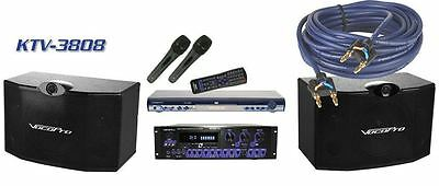 New Vocopro KTV-3808II Package 300w Karaoke System w/Powered Mixer+Speakers+Mics