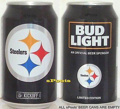 2016 Pittsburgh Steelers Nfl Kickoff Bud Light Beer Can Team Sports Fan Football