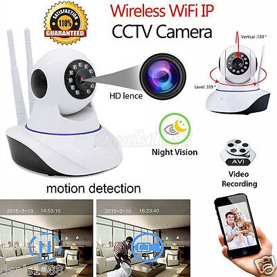 Wireless HD IP Pan Camera Home Security Network 720P WIFI Monitor Night Vision