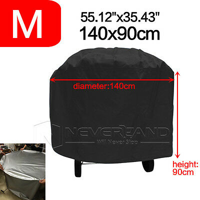 140CM Large Round BBQ Gas Grill Barbecue Cover Waterproof Protection Outdoor BSW