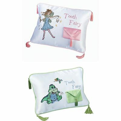 Adorable & Cute Top Quality Embroidered Dinosaur Tooth Fairy Pillow With Pouch