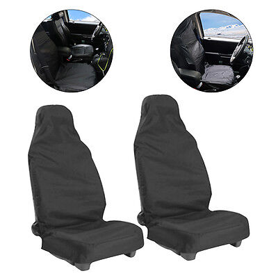 Universal 2pcs car Van Waterproof Nylon Front Seat Covers Heavy duty Protectors