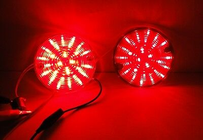RED LED bulb Harley touring rear turn signal road king glide electra ultra 1156