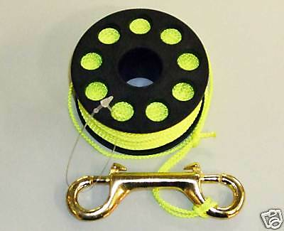 Finger Reel Yellow Scuba Diver Diving Spooling 30 Meter