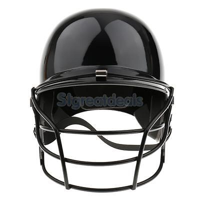 Black Baseball Batting Helmet with Mask - Fits Head Circumference of 55-60cm